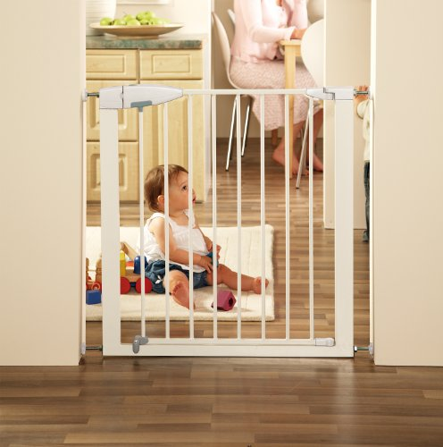 Munchkin Easy Close Metal Safety Gate White Cutest Dogs