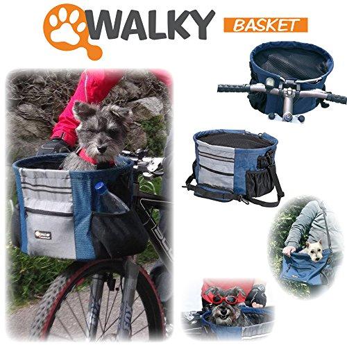 Walky Basket Pet Dog Bicycle Bike Basket Carrier Easy Click
